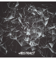 plexus Science DNA Molecule Mesh Background vector image