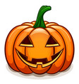 pumpkin with smile face vector image vector image