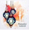 ramadan kareem lantern vector image vector image