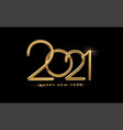 realistic gold metal inscription 2021 gold vector image vector image