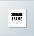 realistic white square frame mockup on gray vector image vector image