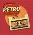 retro vintage music vector image vector image