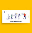 robots artificial intelligence in human life vector image