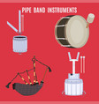scottish pipe band musical instruments vector image