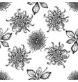 seamless pattern with black and white japanese vector image vector image