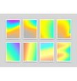 Set 8 realistic holographic backgrounds in vector image vector image