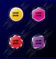 set of banner geometric shapes multicolor with vector image vector image