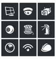 Set of Security Installation Icons vector image