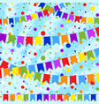 set of six flat colored garlands isolated vector image