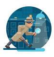 spy magnifying glass mask detective cartoon vector image vector image