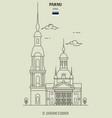 st catherines church in parnu estonia vector image vector image