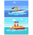 summer recreation collection vector image vector image