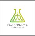 tech lab logo template design lab icon vector image vector image