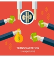 transplantation buying agencies infographic vector image