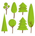 trees and pine sprites for the game forest vector image