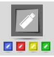 Usb sign icon flash drive stick symbol Set vector image