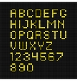 yellow digital led font vector image