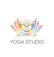 yoga logo wellness logo vector image