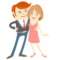Hipster funny couple Flat style vector image