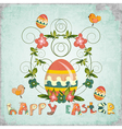 Retro Design of Easter Card vector image