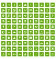 100 harmony icons set grunge green vector image vector image