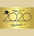 2020 simple black minimalism sign gold vector image vector image