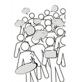 A group of characters is having a discussion vector image vector image