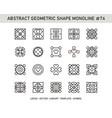 abstract geometric shape monoline 74 vector image