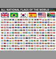 all national flags world torn paper vector image vector image
