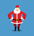 Angry Santa Claus Aggressive grandfather with vector image vector image