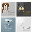 Animal portrait collection with dogs 3 vector image