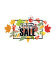 Autumn lettering typography vector image vector image
