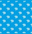 bike helmet pattern seamless blue vector image