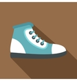 Blue athletic shoe icon flat style vector image vector image