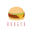 burger with salad cheese and meat design template vector image vector image