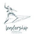 business concept a leadership skills plane vector image vector image