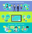 Business Customer Relationship Tips and Trips vector image vector image