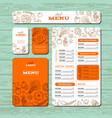 cafe or restaurant identity template vector image vector image