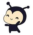 cartoon kawaii of a cute lady bug