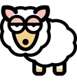 Cartoon sleepy sheep vector image vector image
