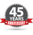 celebrating 30 years anniversary retro label vector image vector image