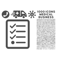 Checklist Icon with 1000 Medical Business vector image vector image