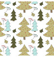christmas seamless pattern with detailed vector image vector image