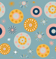 collage style circles seamless background vector image