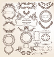 collection or set of filigree drawn antique style vector image