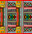 colored patchwork design with african ethnic vector image vector image