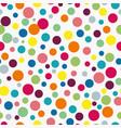colorful small and big circles pattern vector image