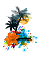 colorful summer vector image vector image