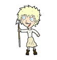 comic cartoon crazy woman with spear vector image vector image