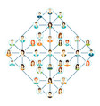 connecting people icons set isolated on white vector image vector image